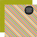 Echo Park - Halloween Collection - 12 x 12 Double Sided Paper - Halloween Stripes