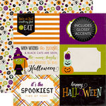 Echo Park - Halloween Collection - 12 x 12 Double Sided Paper - 4 x 6 Journaling Cards