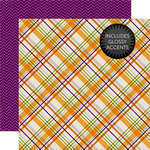 Echo Park - Halloween Collection - 12 x 12 Double Sided Paper - Spooky Plaid
