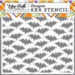 Echo Park - Halloween Collection - 6 x 6 Stencil - Bats 2