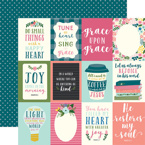 Echo Park - Have Faith Collection - 12 x 12 Double Sided Paper - 3 x 4 Journaling Cards