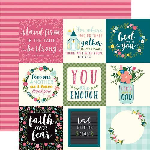 Echo Park - Have Faith Collection - 12 x 12 Double Sided Paper - 4 x 4 Journaling Cards