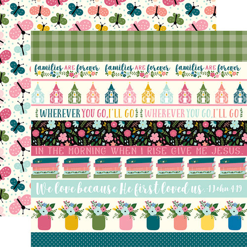 Echo Park - Have Faith Collection - 12 x 12 Double Sided Paper - Border Strips