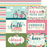 Echo Park - Have Faith Collection - 12 x 12 Double Sided Paper - Journaling Cards
