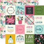 Echo Park - Have Faith Collection - 12 x 12 Double Sided Paper - 2 x 2 Journaling Cards