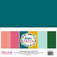 Echo Park - Have Faith Collection - 12 x 12 Paper Pack - Solids