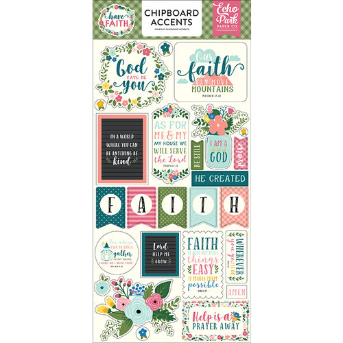 Echo Park Paper Have Faith Chipboard Stickers