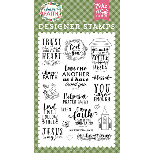 Echo Park Paper Have Faith Stamp Set