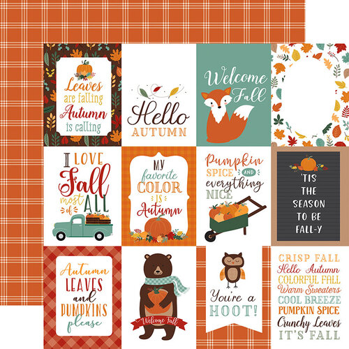 Echo Park - Happy Fall Collection - 12 x 12 Double Sided Paper - 3 x 4 Journaling Cards
