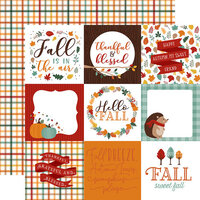 Echo Park - Happy Fall Collection - 12 x 12 Double Sided Paper - 4 x 4 Journaling Cards