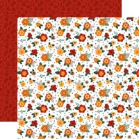 Echo Park - Happy Fall Collection - 12 x 12 Double Sided Paper - Fresh Fall Flowers