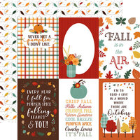 Echo Park - Happy Fall Collection - 12 x 12 Double Sided Paper - 4 x 6 Journaling Cards
