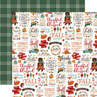 Echo Park - Happy Fall Collection - 12 x 12 Double Sided Paper - Hello Autumn