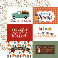 Echo Park - Happy Fall Collection - 12 x 12 Double Sided Paper - 6 x 4 Journaling Cards
