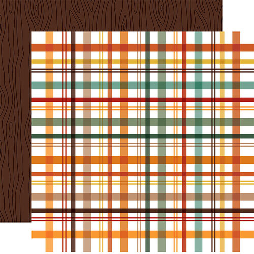 Echo Park - Happy Fall Collection - 12 x 12 Double Sided Paper - Fall Picnic Plaid