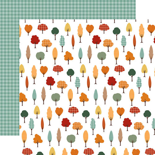 Echo Park - Happy Fall Collection - 12 x 12 Double Sided Paper - Fall Forest