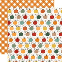 Echo Park - Happy Fall Collection - 12 x 12 Double Sided Paper - Pumpkin Spice
