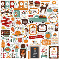 Echo Park - Happy Fall Collection - 12 x 12 Cardstock Stickers - Elements
