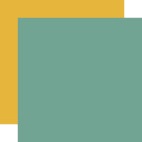 Echo Park - Happy Fall Collection - 12 x 12 Double Sided Paper - Teal