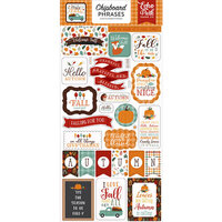 Echo Park - Happy Fall Collection - Chipboard Stickers - Phrases