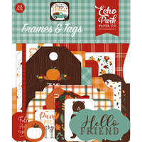 Echo Park - Happy Fall Collection - Ephemera - Frames and Tags
