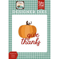 Echo Park - Happy Fall Collection - Designer Dies - Pumpkin Give Thanks