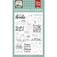 Echo Park - Happy Fall Collection - Clear Photopolymer Stamps - Give Thanks