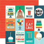 Echo Park - Happy Birthday Boy Collection - 12 x 12 Double Sided Paper - 3 x 4 Journaling Cards