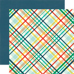 Echo Park - Happy Birthday Boy Collection - 12 x 12 Double Sided Paper - Rad Plaid