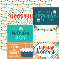 Echo Park - Happy Birthday Boy Collection - 12 x 12 Double Sided Paper - 4 x 6 Journaling Cards