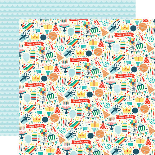 Echo Park - Happy Birthday Boy Collection - 12 x 12 Double Sided Paper - Party Fun