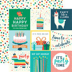 Echo Park - Happy Birthday Boy Collection - 12 x 12 Double Sided Paper - 4 x 4 Journaling Cards