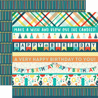 Echo Park - Happy Birthday Boy Collection - 12 x 12 Double Sided Paper - Border Strips