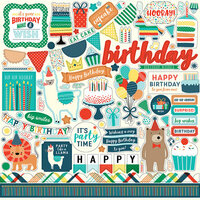 Echo Park - Happy Birthday Boy Collection - 12 x 12 Cardstock Stickers - Elements