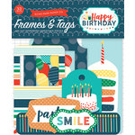 Echo Park - Happy Birthday Boy Collection - Ephemera - Frames and Tags
