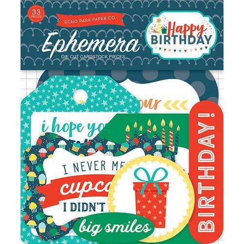 Echo Park - Happy Birthday Boy Collection - Ephemera