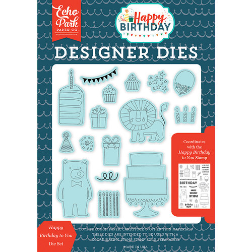 Echo Park - Happy Birthday Boy Collection - Designer Dies - Happy Birthday To You