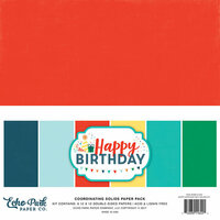 Echo Park - Happy Birthday Boy Collection - 12 x 12 Paper Pack - Solids