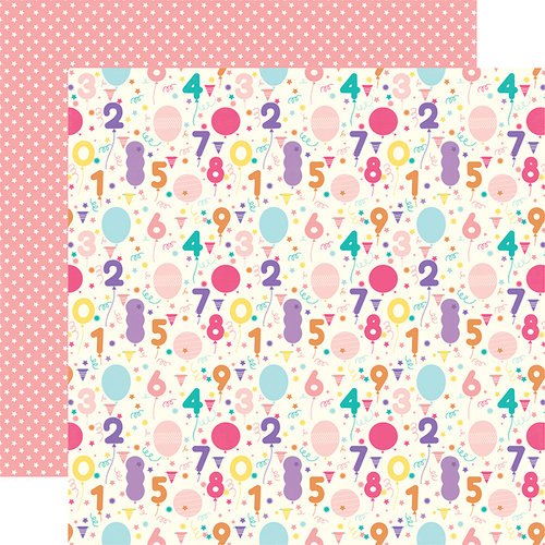 Echo Park - Happy Birthday Girl Collection - 12 x 12 Double Sided Paper - Birthday Countdown