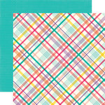 Echo Park - Happy Birthday Girl Collection - 12 x 12 Double Sided Paper - Party Plaid