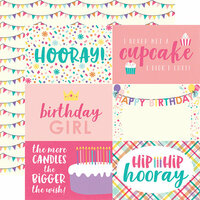 Echo Park - Happy Birthday Girl Collection - 12 x 12 Double Sided Paper - 4 x 6 Journaling Cards