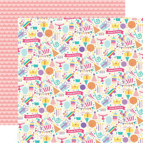 Echo Park - Happy Birthday Girl Collection - 12 x 12 Double Sided Paper - Happy Birthday