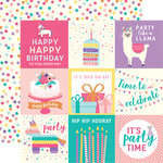 Echo Park - Happy Birthday Girl Collection - 12 x 12 Double Sided Paper - 4 x 4 Journaling Cards