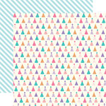 Echo Park - Happy Birthday Girl Collection - 12 x 12 Double Sided Paper - Party Hats
