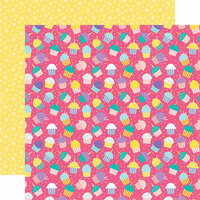 Echo Park - Happy Birthday Girl Collection - 12 x 12 Double Sided Paper - Cupcake Party