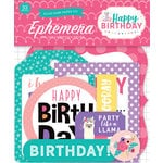 Echo Park - Happy Birthday Girl Collection - Ephemera
