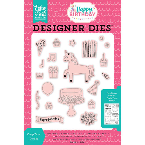 Echo Park - Happy Birthday Girl Collection - Designer Dies - Party Time