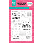 Echo Park - Happy Birthday Girl Collection - Clear Acrylic Stamps - Party Time