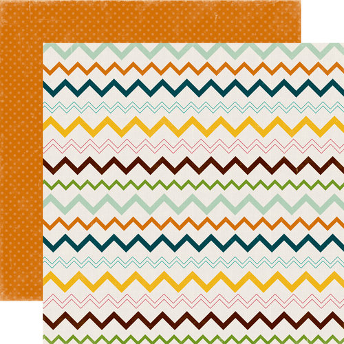 Echo Park - Happy Camper Collection - 12 x 12 Double Sided Paper - Teepee