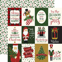 Echo Park - Christmas - Here Comes Santa Claus Collection - 12 x 12 Double Sided Paper - 3 x 4 Journaling Cards